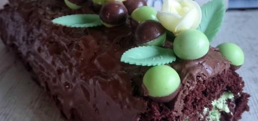 Aero Bubbles Mint Chocolate Swiss Roll Recipe by Karyn Ryan