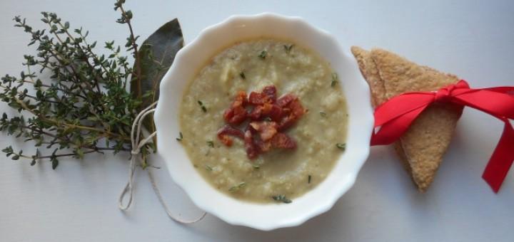 Celeriac, Thyme and Crispy Pancetta Soup