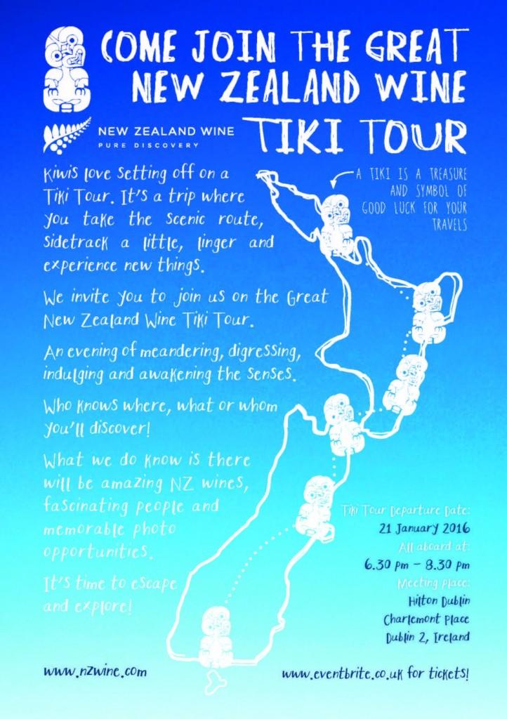 Tiki tour advert email- Dublin New Zealand