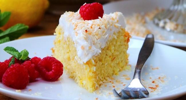 Grain Free Lemon Cauliflower Cake