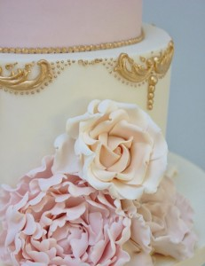 The Cake Cuppery Wedding Cake Detail