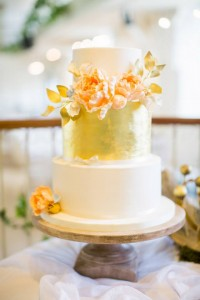 The Cloudberry Bakery Metallic Wedding Cake