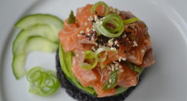Hawaiian Salmon Poke Recipe My Nutrition