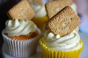 Custard cream cupcakes Karyn Ryan