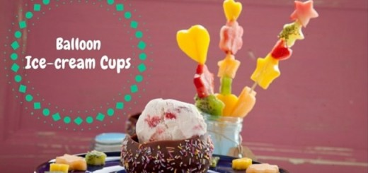 Balloon Ice-cream Cups