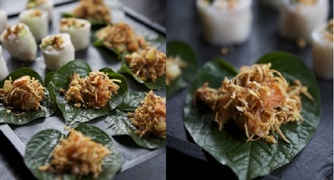 Saba Smoked Trout on Betal Leaves