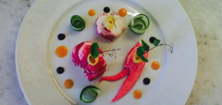 Butter Poached Lobster Recipe with Cucumber & Mango by Chef Benjamin Patterson