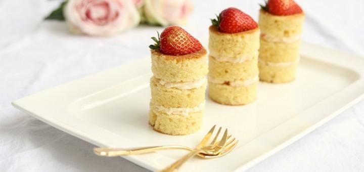 Elderflower Royale Mini Cakes Recipe by Cove Cake Design