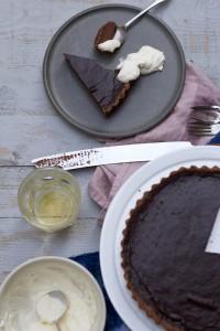 Dark Chocolate Tart with Whiskey Cream Recipe Video by Jette Virdi