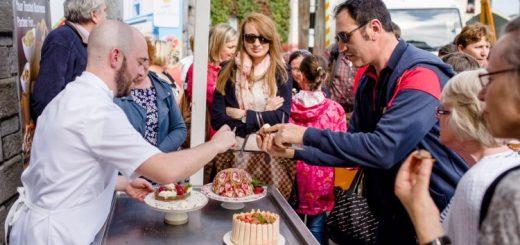 Tastings during the chef demonstations at Westport Food Festival