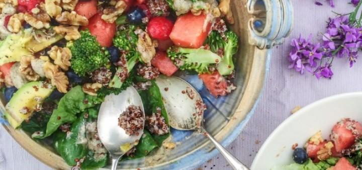 Watermelon & Berry Quinoa Salad (1)