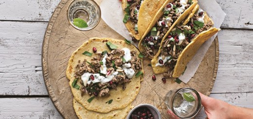 Lamb Mince Wraps With Mint Yoghurt Recipe by Roz Purcell