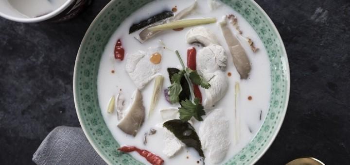Tom Kha Gai Chicken Coconut Soup Recipe from Saba Restaurant