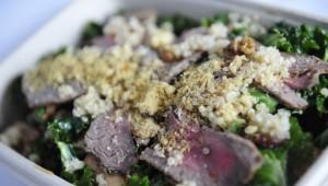 Alchemy Juice Co beef kale salad