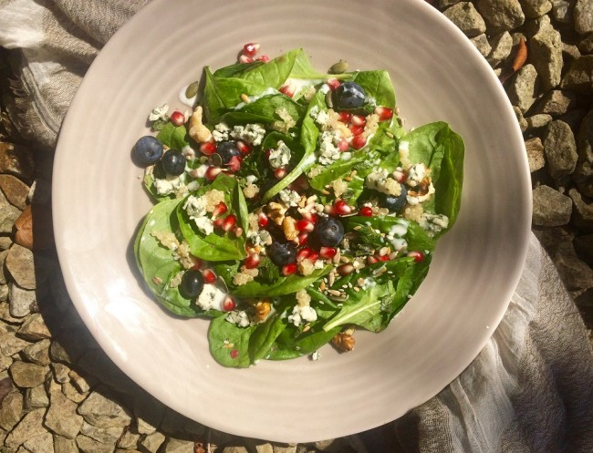 Quinoa and Blue Cheese Salad
