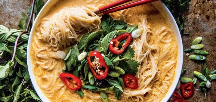 Spicy Thai Curry Noodle Soup Pure Delicious Cookbook