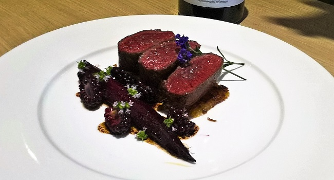 Venison, Beetroot, Blackberries and Lavender with La Solana Suertes del Marqués – Recipe and Wine Pairing by Julie Dupouy