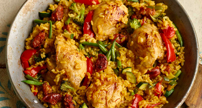 spanish chicken paella recipe