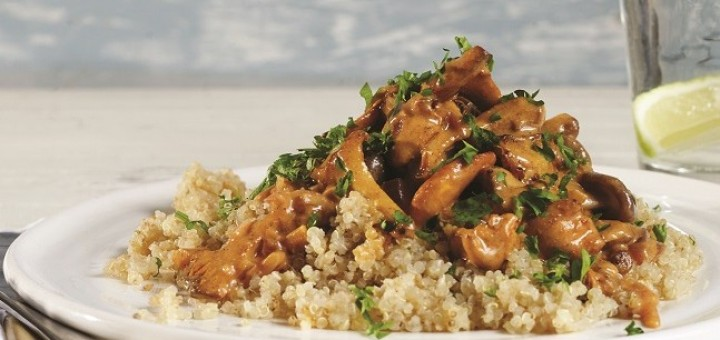 Creamy Mushroom and Quinoa Stroganoff by Rosanna Davison