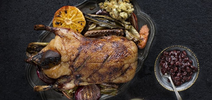 Roast Duck with Cranberry and Sage Stuffing Recipe By Chef Gearóid Lynch