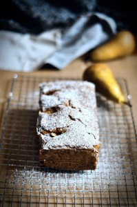 Poached Pear and Ginger Loaf Cake Recipe by The Flour Artist