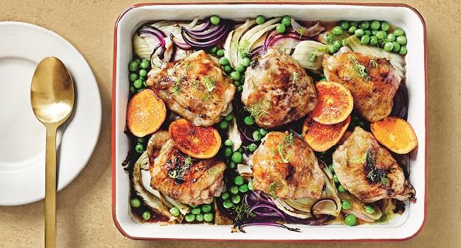 Clementine Roast Chicken Tray Bake | M&S | TheTaste.ie