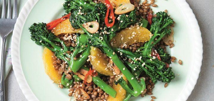 Broccoli, Spelt and Orange Salad Recipe by Davina McCall