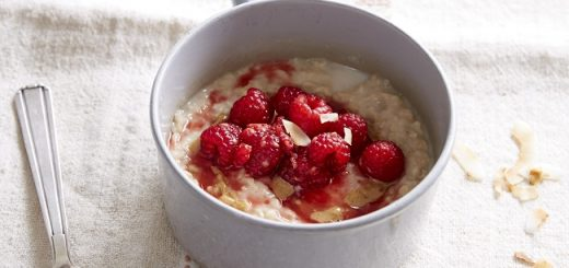 Raspberry and Coconut Oat Porridge Recipe The FODMAP Friendly Kitchen Cookbook