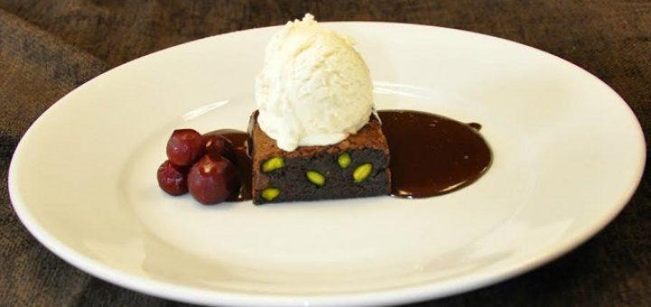 Sour Cherry Pistachio Brownie Recipe by Darren Harris