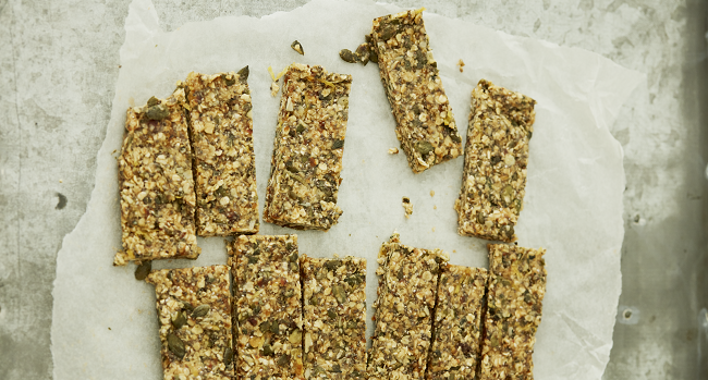 Honey and Lemon breakfast bars recipe Deliciously Ella