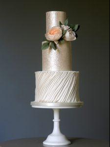 Metallics - Wedding Cake Trends 2017