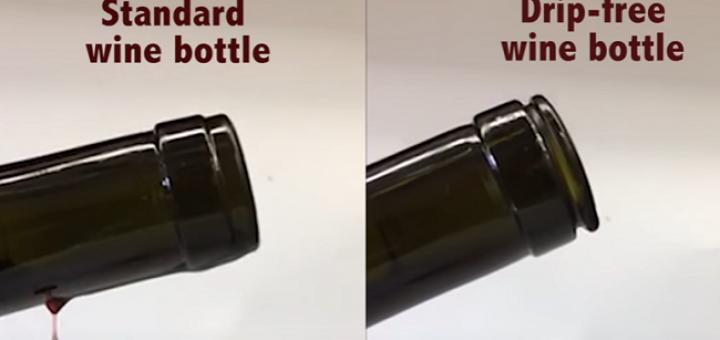 No More Wine Tears! Scientist Invents Drip-Free Wine Bottle