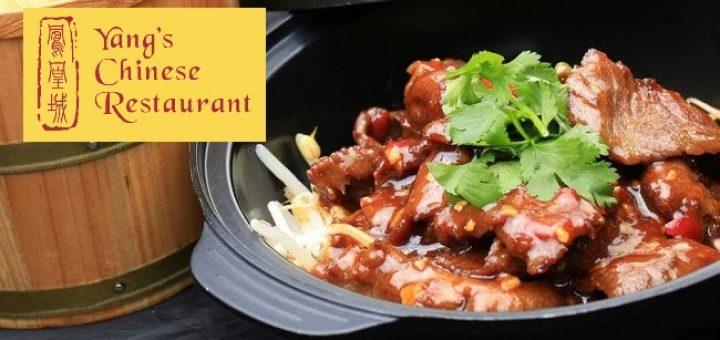 Win a 4 course tasting menu dinner at Yangs Chinese in Clontarf for 2 people with 2 glass cocktail