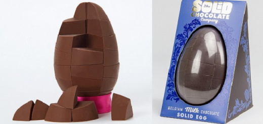 solid chocolate Easter egg