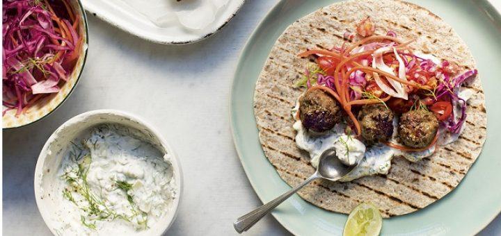 Lamb Meatball Wraps Recipe