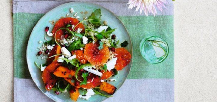Blood Orange and Roast Butternut Squash salad recipe