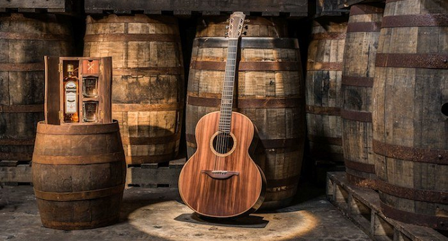 This Beautiful Limited Edition Guitar is Made from Bushmills Whiskey Barrel Wood