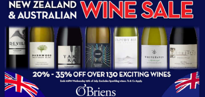 New World Wonders: O'Briens Wine New Zealand and Australian Sale is On Now