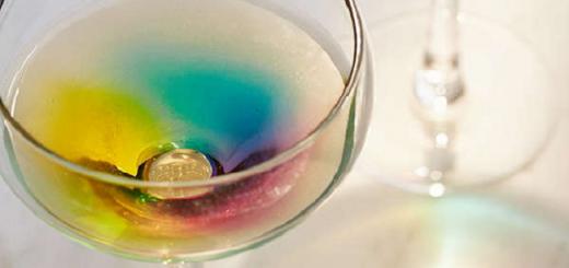 This Rainbow Wine Glass