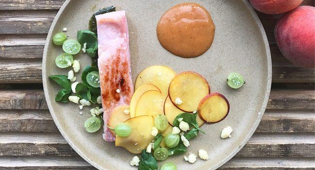 ham and peach salad recipe Alison O Reilly