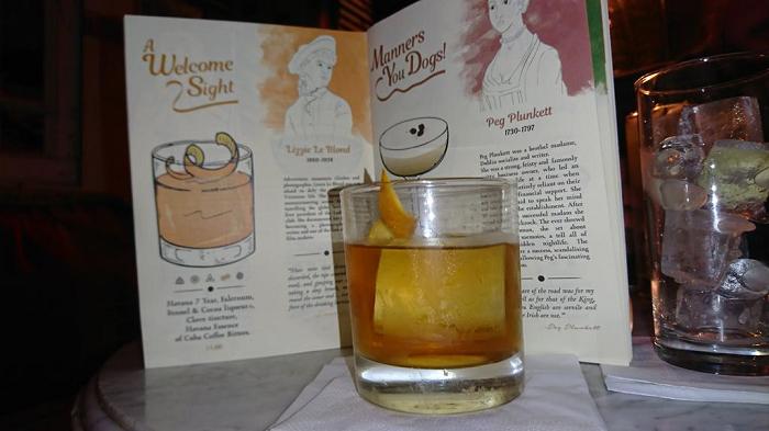 creative cocktail menus liqour rooms
