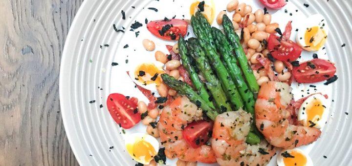 Garlic and Seaweed Marinated Prawns Recipe