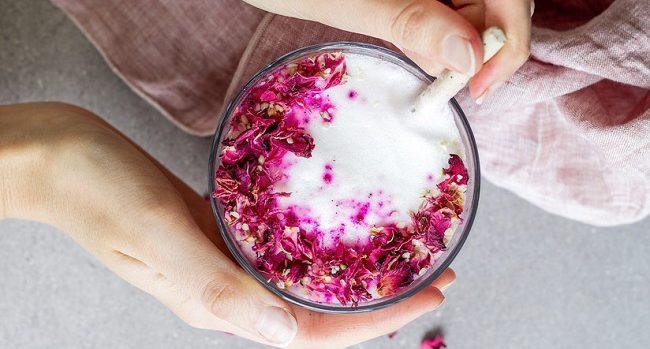 hibiscus-rose-latte Food Trends 2018