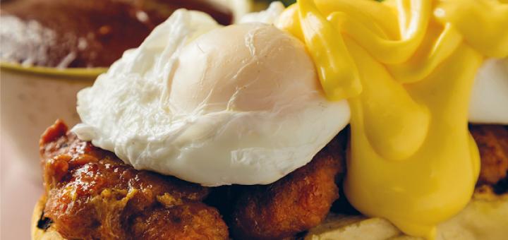 Eggs Benedict with Chorizo Patties Recipe By Simon Delaney