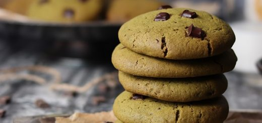 Matcha Dark Chocolate Chip Cookies Recipe By Soulful and Healthy