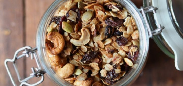 Honey Cinnamon Granola Recipe from Soulful and Healthy