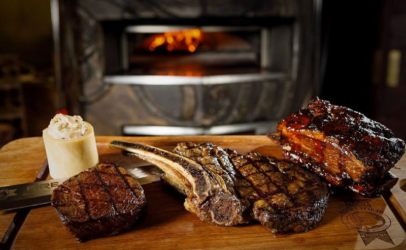 BBQ Rib Eye Steak With Marrow Butter Recipe By Fire Restaurant