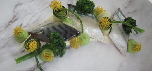 Cured Mackerel, Ballymakenny Tendersteam Broccoli & Samphire Puree Recipe By Chef Janice Casey Bracken
