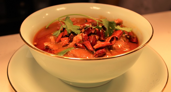 Sliced Beef with Dry chilli and Chinese Spices Recipe By Shucheng Yu From The Old Post Office Restaurant
