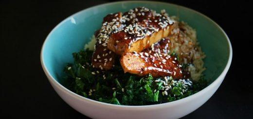 Sticky Korean Tofu & Stir Fry Kale Recipe By My Nutrition Ireland
